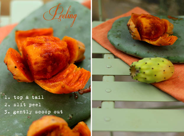 how to peel and serve prickly pears