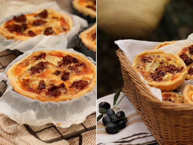 black olive tapenade quiche