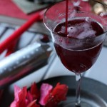 Cranberry cordial on New Year's Eve
