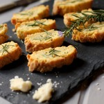 Simple savoury biscotti & two cheeses
