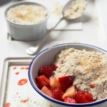 Strawberry apple crisp: a mid-winter pud?
