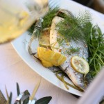 bream cooked with fennel