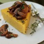 Rosemary polenta with mushroom ragù