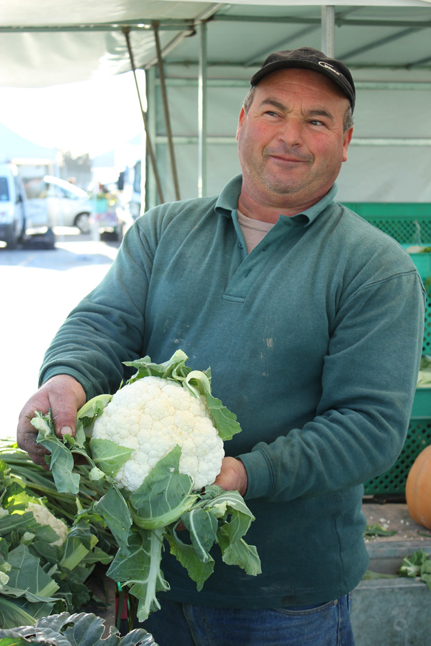 John Bartolo, farmer at Malta market