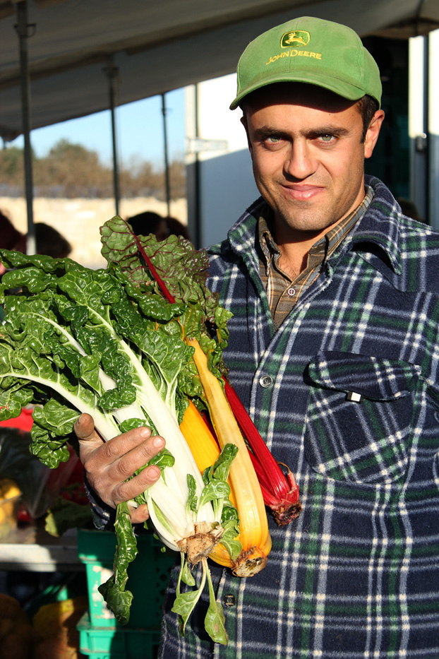 Chard at Malta's farmers market