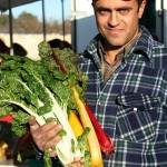 Malta farmer Marjan Cini with chard