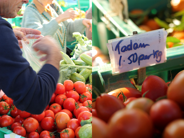 tomatoes at Malta's farmers market