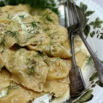 wild fennel and ricotta ravioli