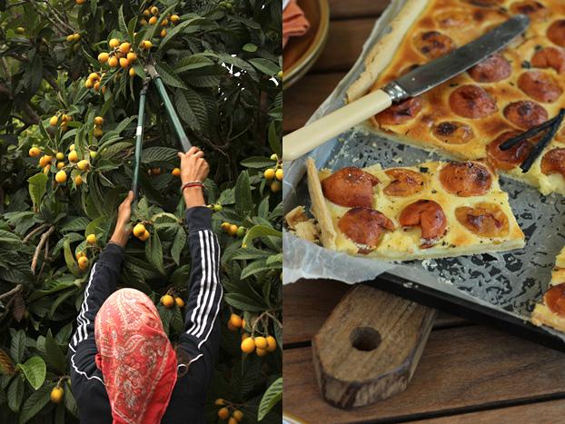 Japanese plums & tart