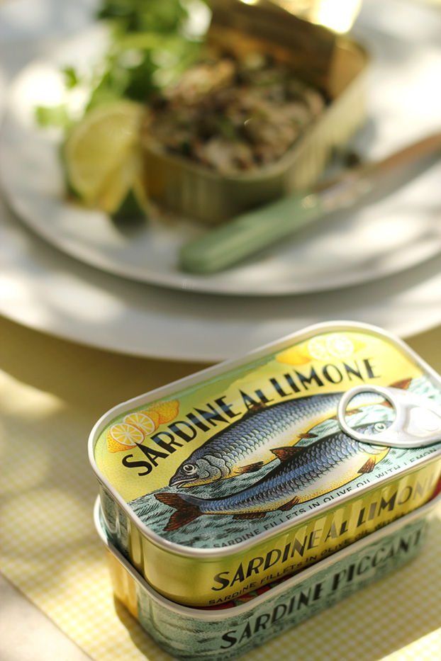 sardines fresh grilled in a summer pate