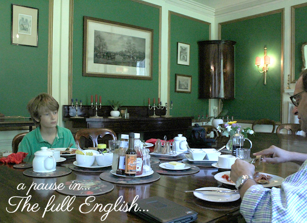 full English breakfast at the Chantry