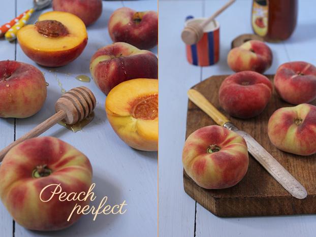 Peach and ricotta summer breakfast