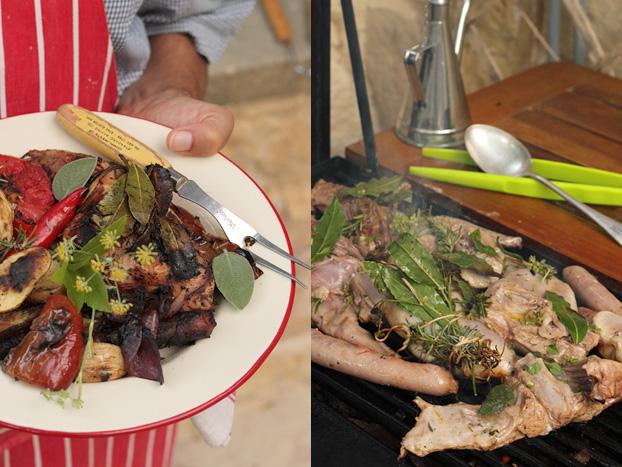 Mediterranean rabbit and herb BBQ