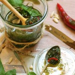 Chili Basil Pesto & 10 ways to use pesto