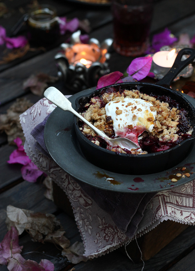 Plum and Carob & Orange Crumble on Bonfire Night