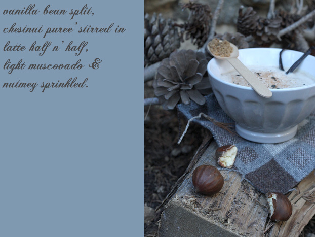 latte vanilla chestnut recipe