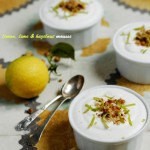 Lemon Mousse with Lime, Ginger & Hazelnuts