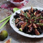 Green fig and Parma ham salad
