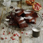Chocolate Brownies with Pomegranate