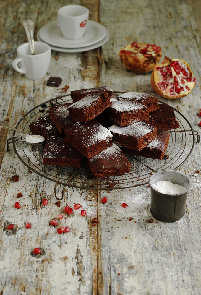 Brownies for a winter tea