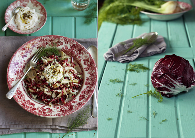 Radicchio fennel & blue cheese slaw
