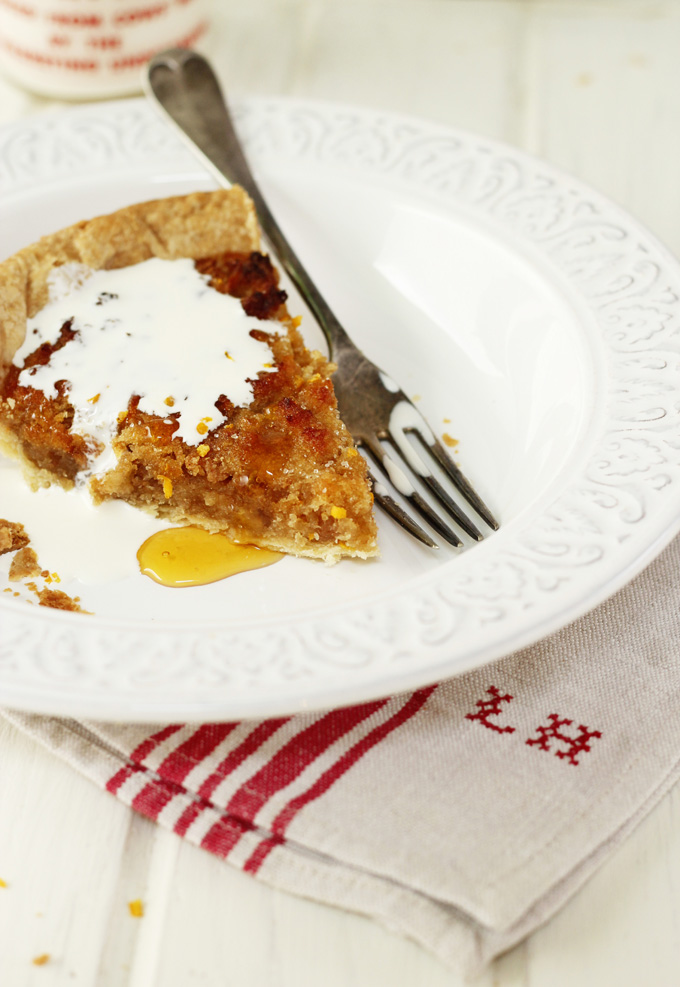 Treacle  tart with orange & ginger