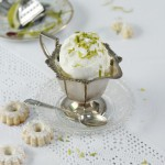Frozen lemon zest yoghurt
