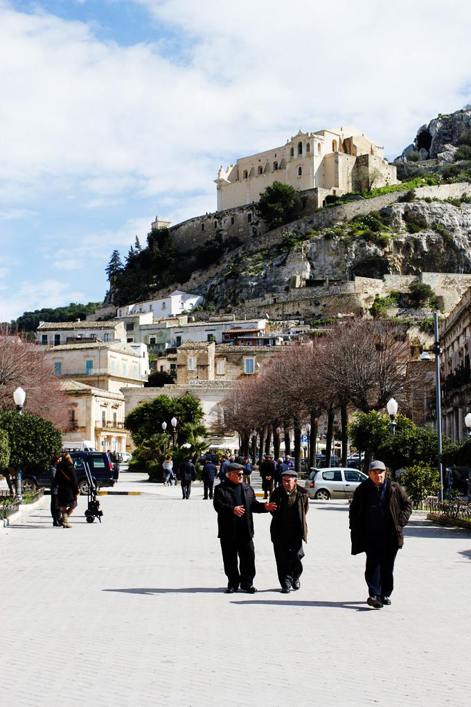 Old men in Piazza Italia, Scicli, Sicily