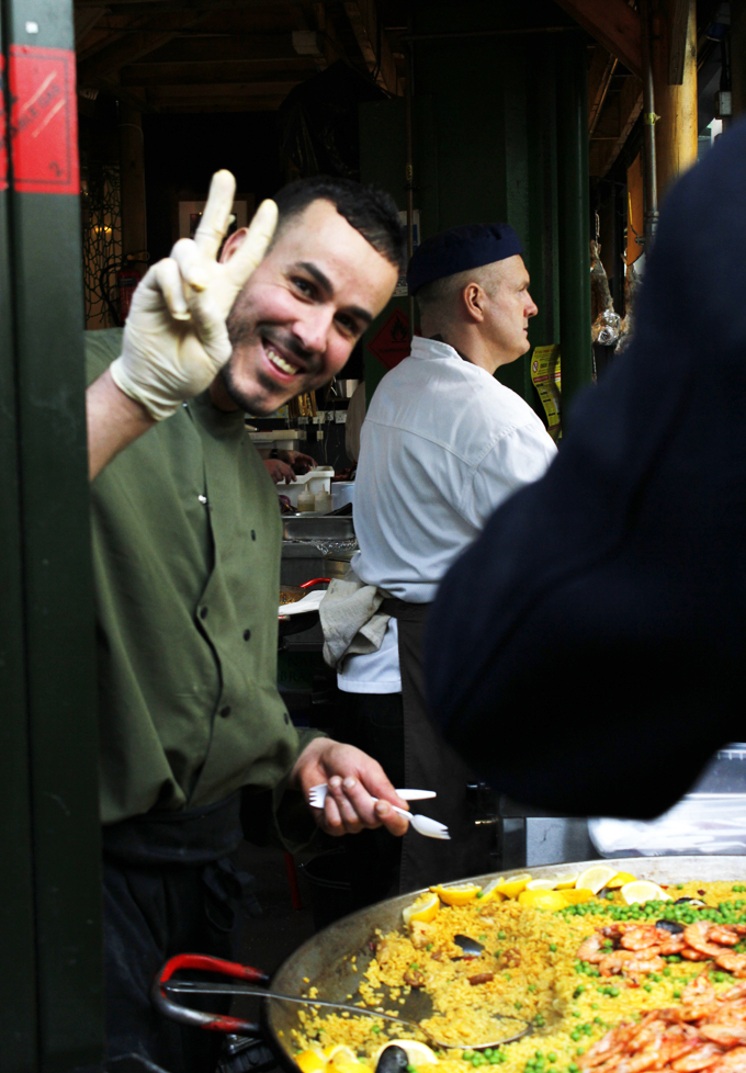 Paella stall, Borough Market, London