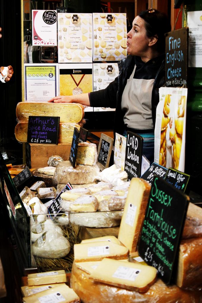 Cheese stall, Borough Market, London