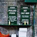Salt beef & pulled pork stall, Borough Market, London