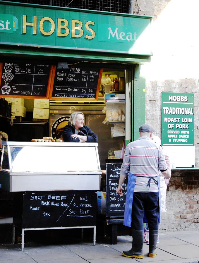 Salt Beef stall, Borough Market, London