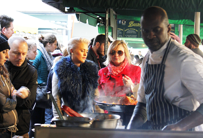Queue for SoulFood at Borough Market, London