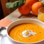 carrot, orange & cardamom soup