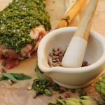 Lamb roast with pistacchio crust