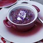 Borscht soup of red cabbage