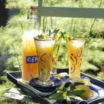 Lemonade with mint, homemade