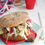 Pan Bagnat or Mediterranean picnic bread