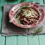 Radicchio, fennel & blue cheese slaw